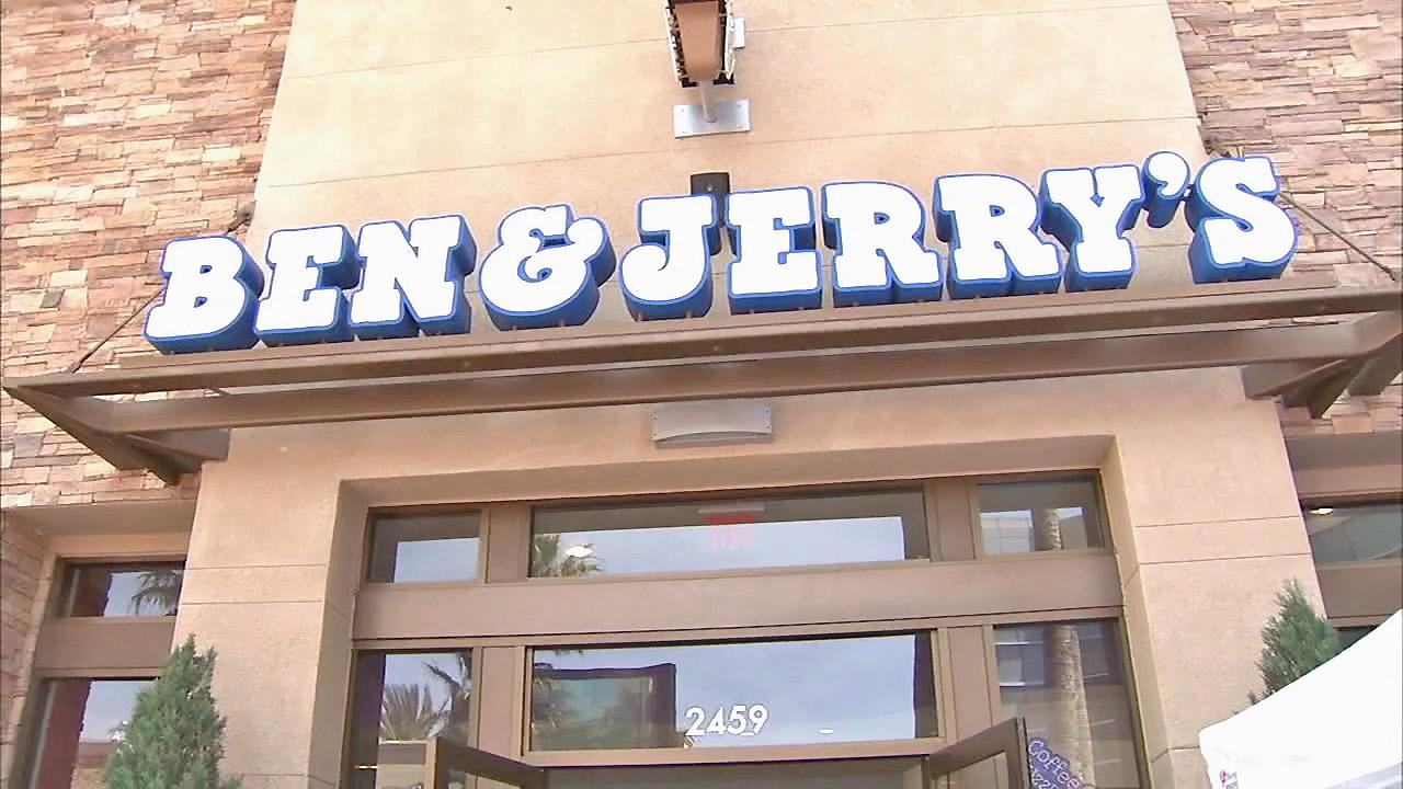 A Ben & Jerrys storefront is seen.