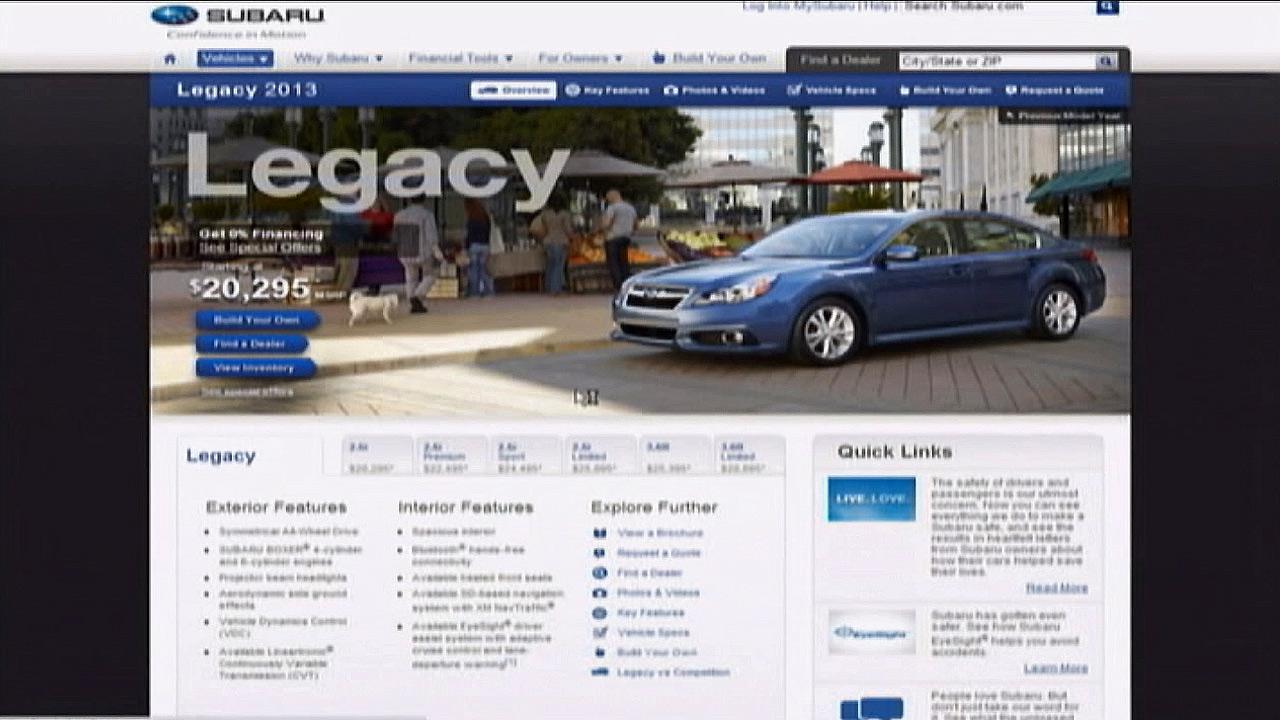 Subarus 2013 Legacy is seen.