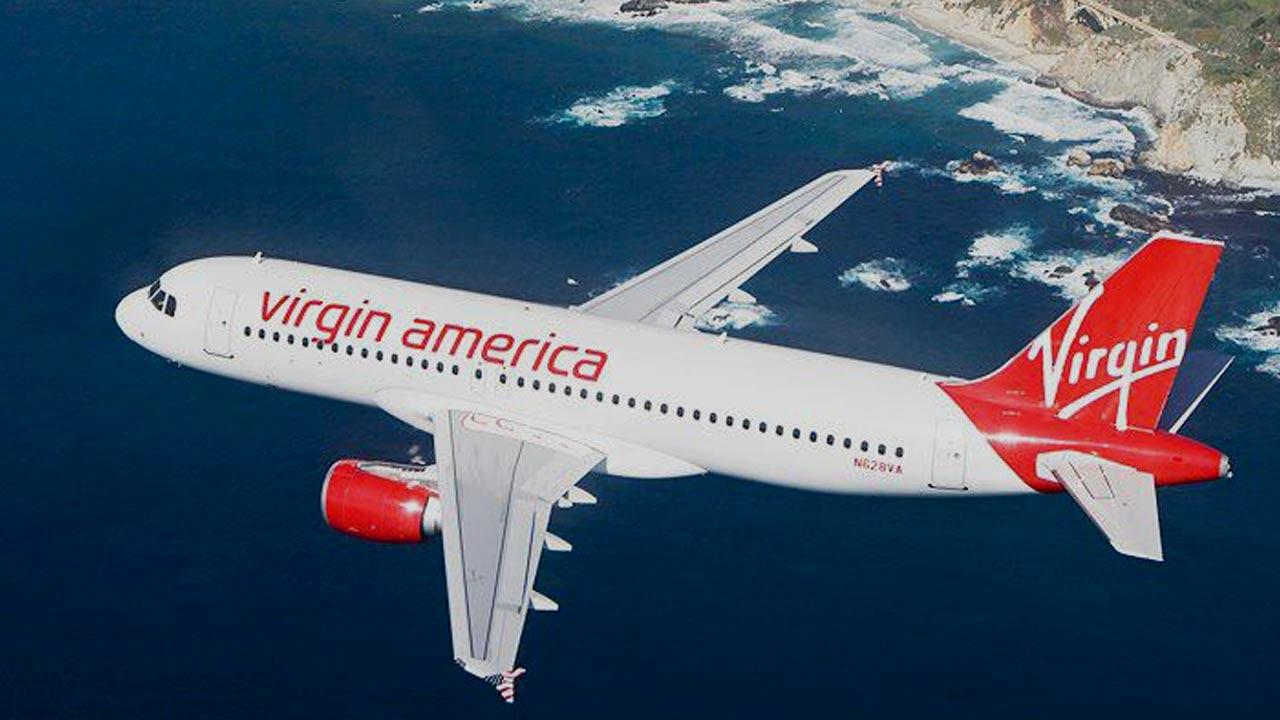 A Virgin America plane is seen in this undated file photo.