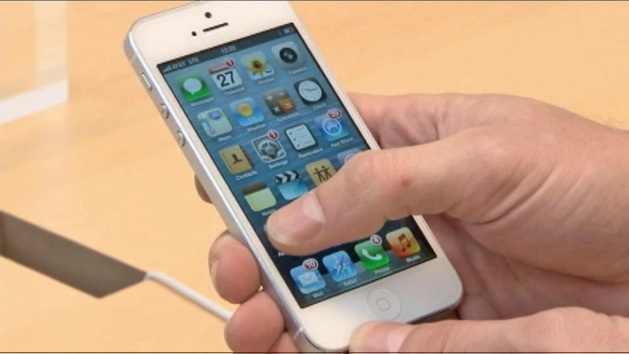 The iPhone 5 is seen in this undated file photo.