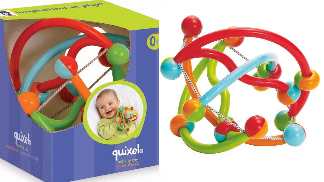 The Manhattan Groups Quixel baby rattle is shown in this Consumer Product Safety Commission photo. The products were recalled due to a possible choking hazard.