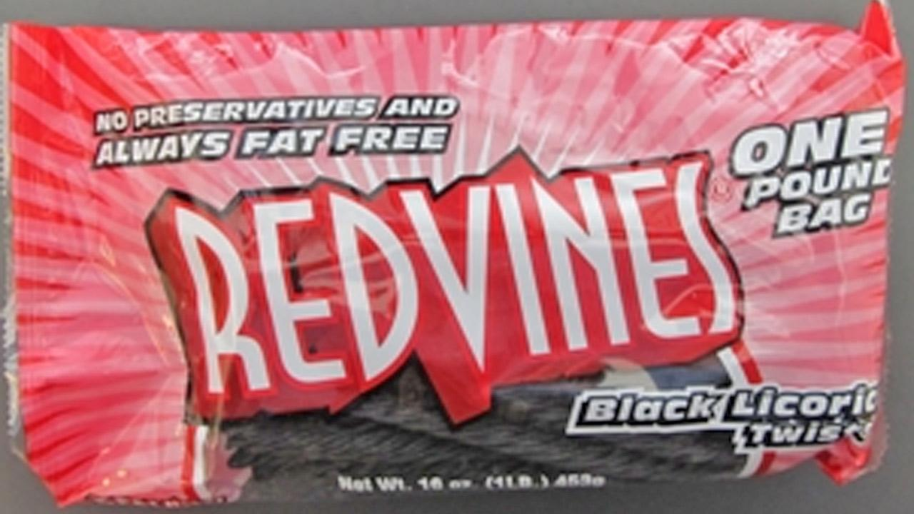 Red Vines brand black licorice is shown in this file photo provided by the California Department of Public Health.