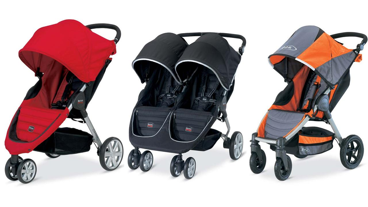 The Britax B-Agile, B-Agile Double and BOB Motion strollers, seen above, are being recalled due to finger injury hazards.