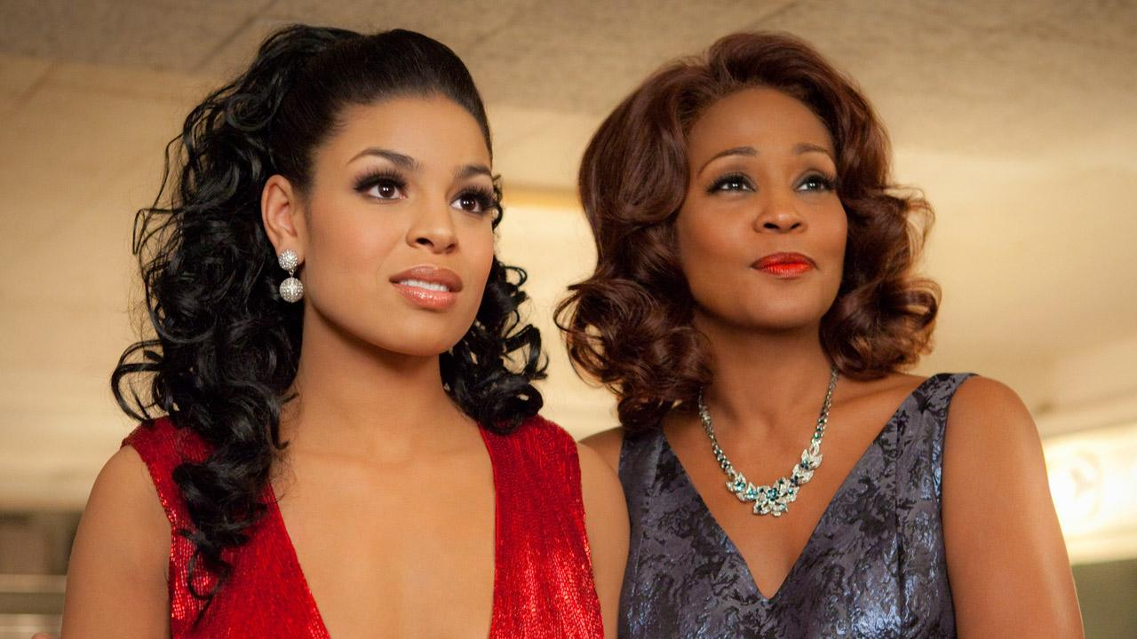 Jordin Sparks and Whitney Houston in a scene from the 2012 film, Sparkle.