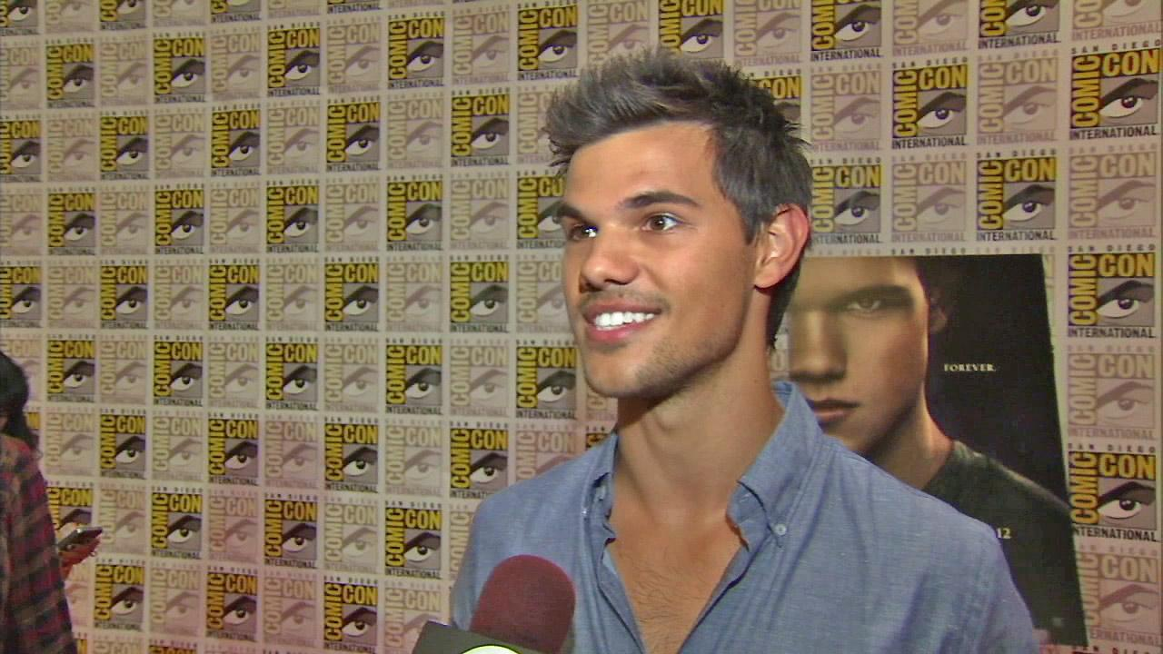 Twilight star Taylor Lautner is seen at Comic-Con 2012 in this file photo.