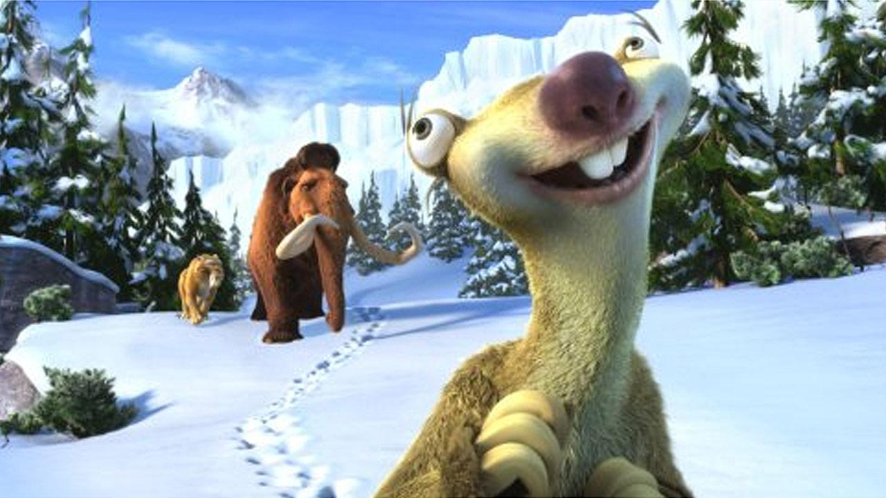 A scene from the 2012 film Ice Age: Continental Drift.