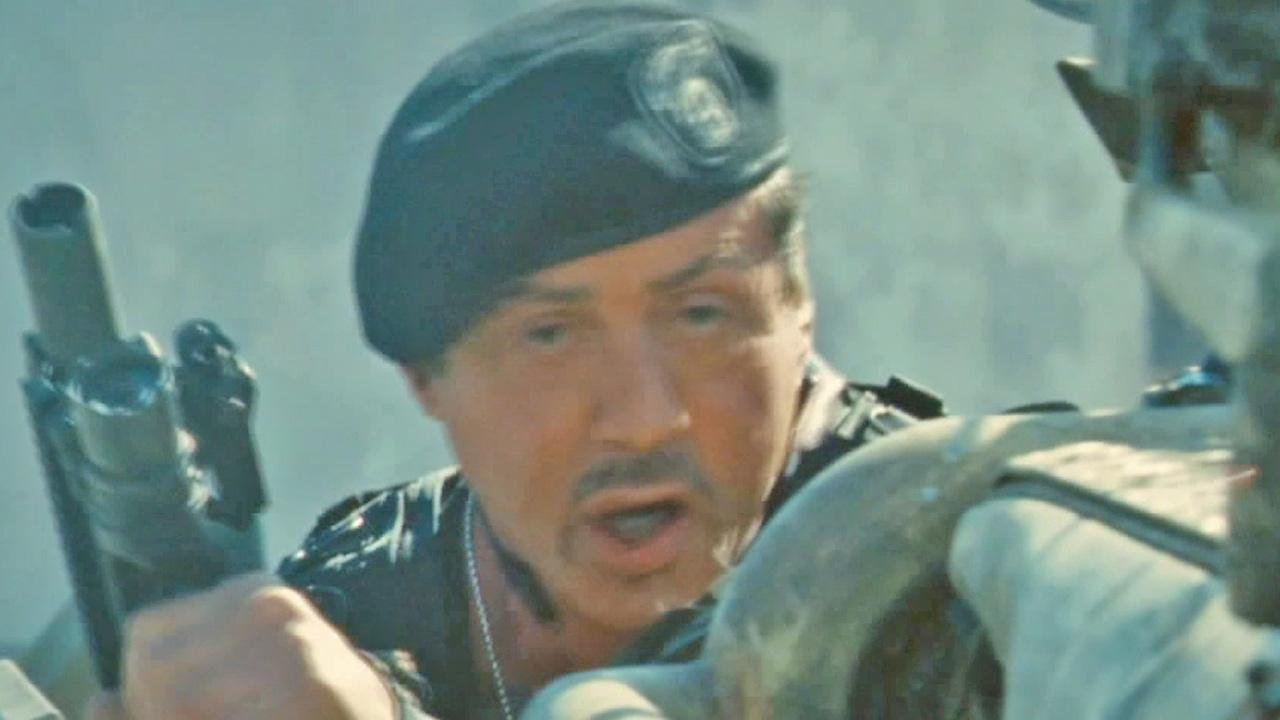 Sylvester Stallone appears in this still from movie footage of The Expendables 2.