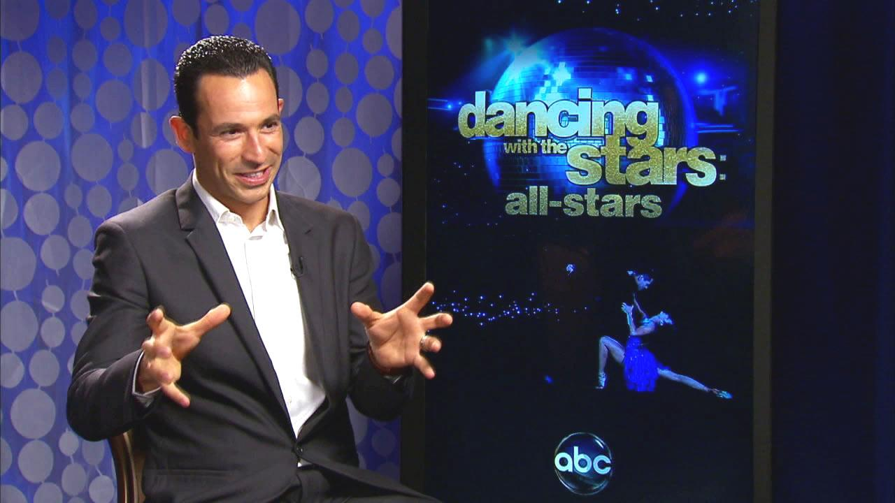 Helio Castroneves discusses appearing on Dancing With The Stars: All-Stars in this file photo from 2012.