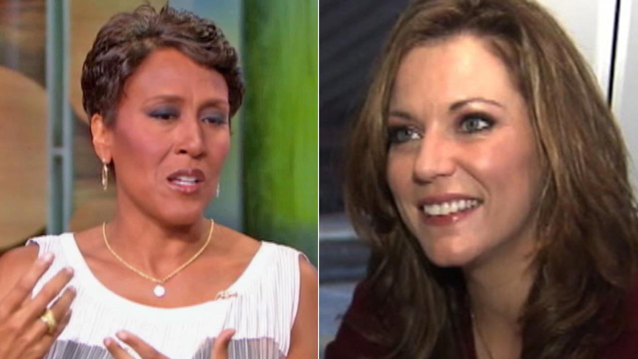 (Left) Robin Roberts appears on Good Morning America in this file photo. (Right) Martina McBride talks to OnTheRedCarpet.com in October 2011 about her new album, Eleven.