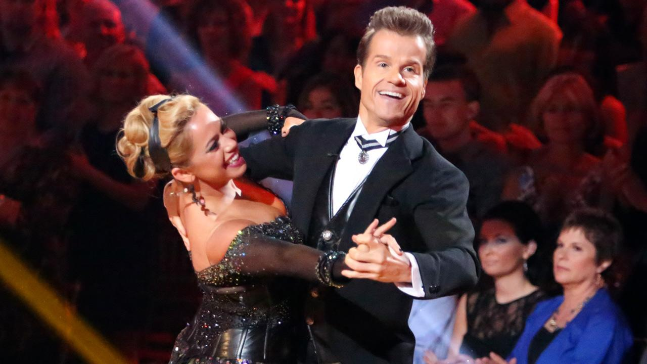 Sabrina Byran and partner Louis Van Amstel perform on Dancing With The Stars: All Stars on Monday, Oct. 1, 2012.