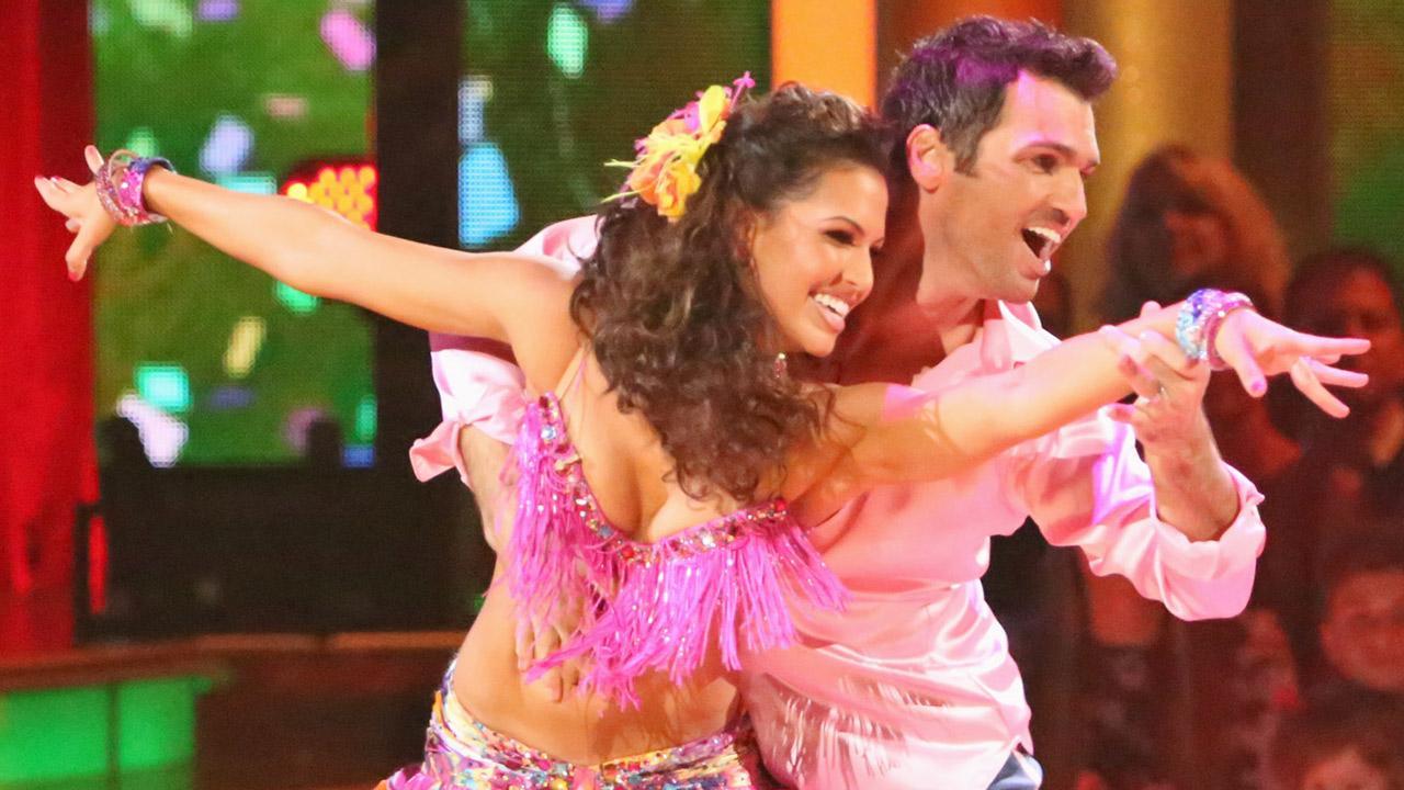 Melissa Rycroft and partner Tony Dovolani perform the Samba on Dancing With The Stars: All-Stars on Monday, Oct. 8, 2012.