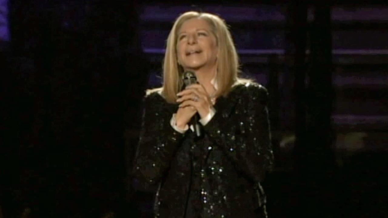Barbra Streisand performs during a concert at the Barclays Center in Brooklyn on Thursday, Oct. 11, 2012.