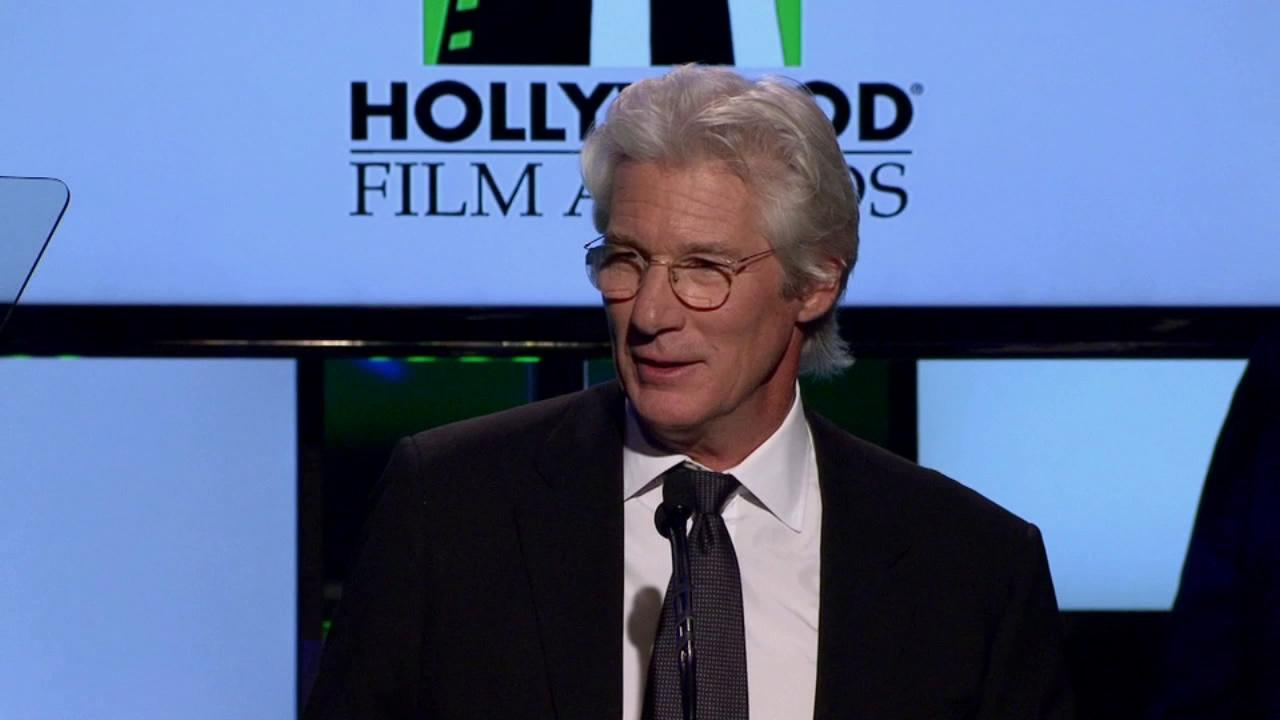 Richard Gere speaks at the 16th annual Hollywood Film Awards in Beverly Hills on Monday, Oct. 22, 2012.