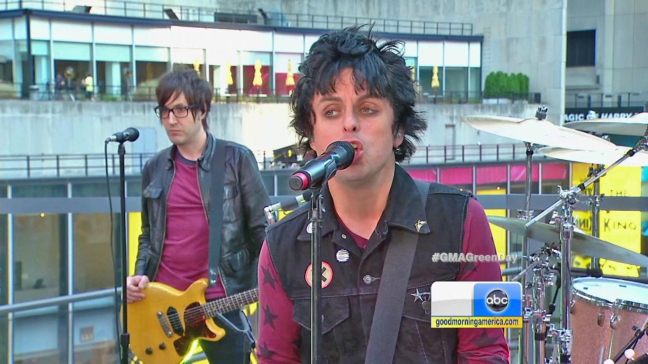 Green Days Billie Joe Armstrong is seen during a performance on Good Morning America in this file photo.