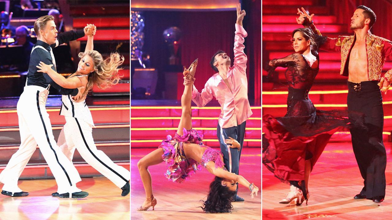 Finalists Shawn Johnson, Derek Hough, Melissa Rycroft, Tony Dovolani, Kelly Monaco and Valentin Chmerkovskiy on Dancing With The Stars: All-Stars on Monday, Nov. 26, 2012.