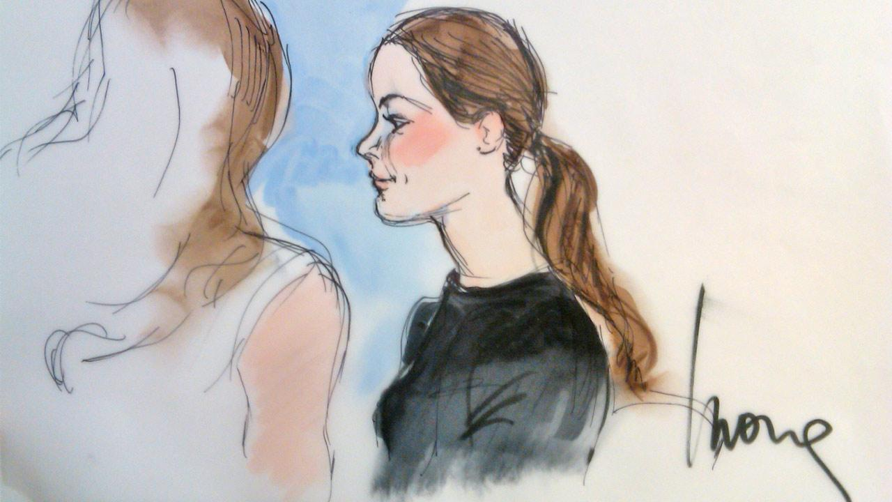 Modern Family actress Ariel Winter is shown in a courtroom sketch on Wednesday, Dec. 12, 2012.
