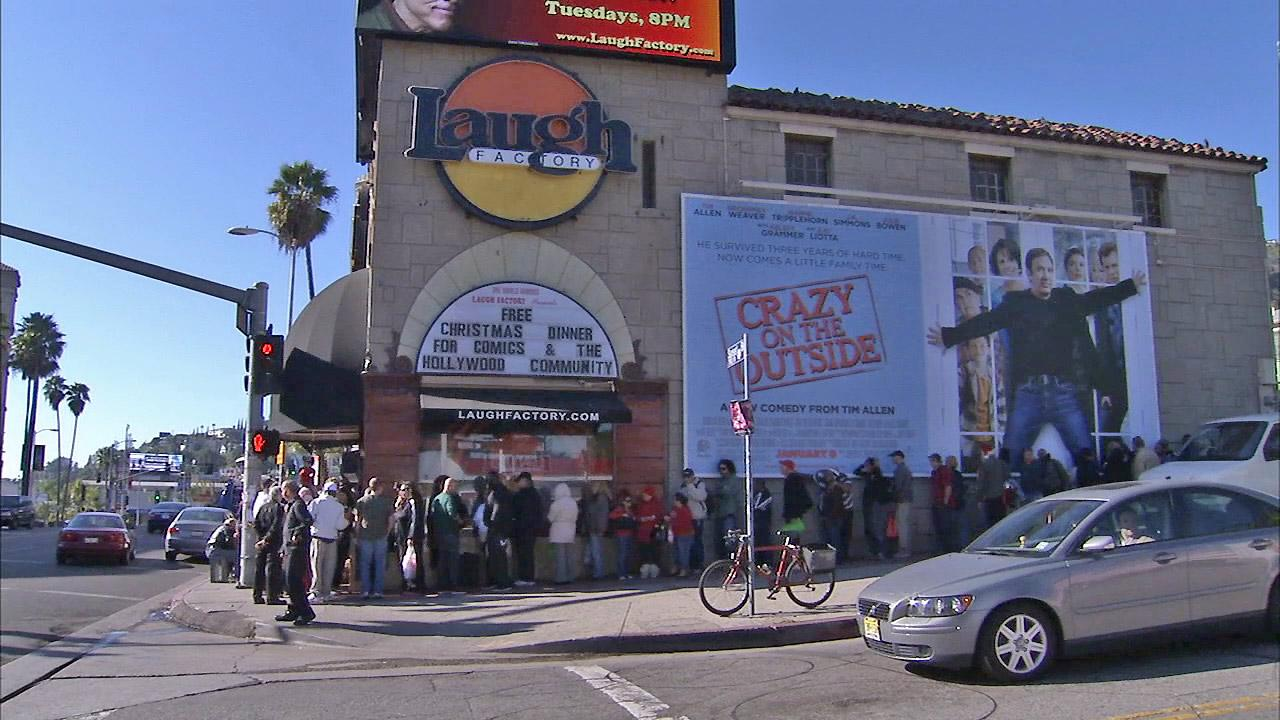 The Laugh Factory in Hollywood is seen.