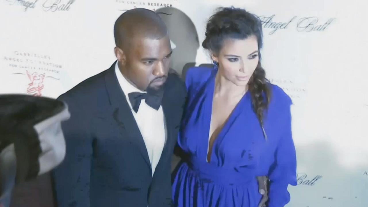 Kanye West and Kim Kardashian attend Angel Ball 2012 hosted by Gabrielles Angel Foundation at Cipriani Wall Street in New York City on Oct. 22, 2012.