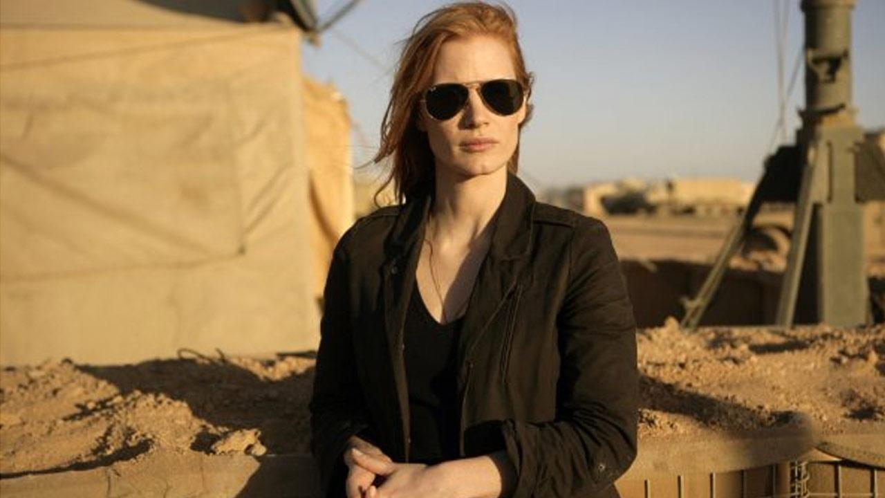 Jessica Chastain appears in a still image from the film, Zero Dark Thirty.