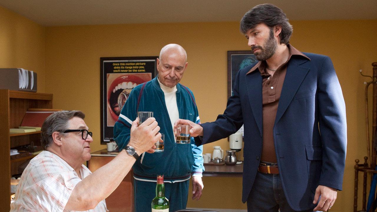 Alan Arkin, John Goodman and Ben Affleck appear in a scene from the 2012 film Argo.