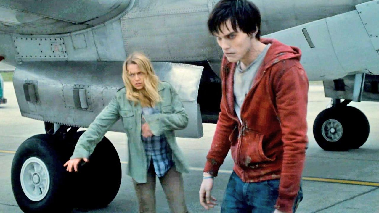 Teresa Palmer and Nicholas Hoult are seen in this still from the 2013 film, Warm Bodies.