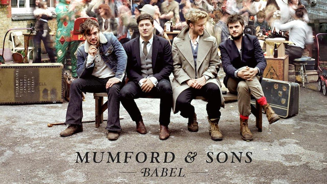Members of Mumford & Sons appear on the cover of their album, Babel.