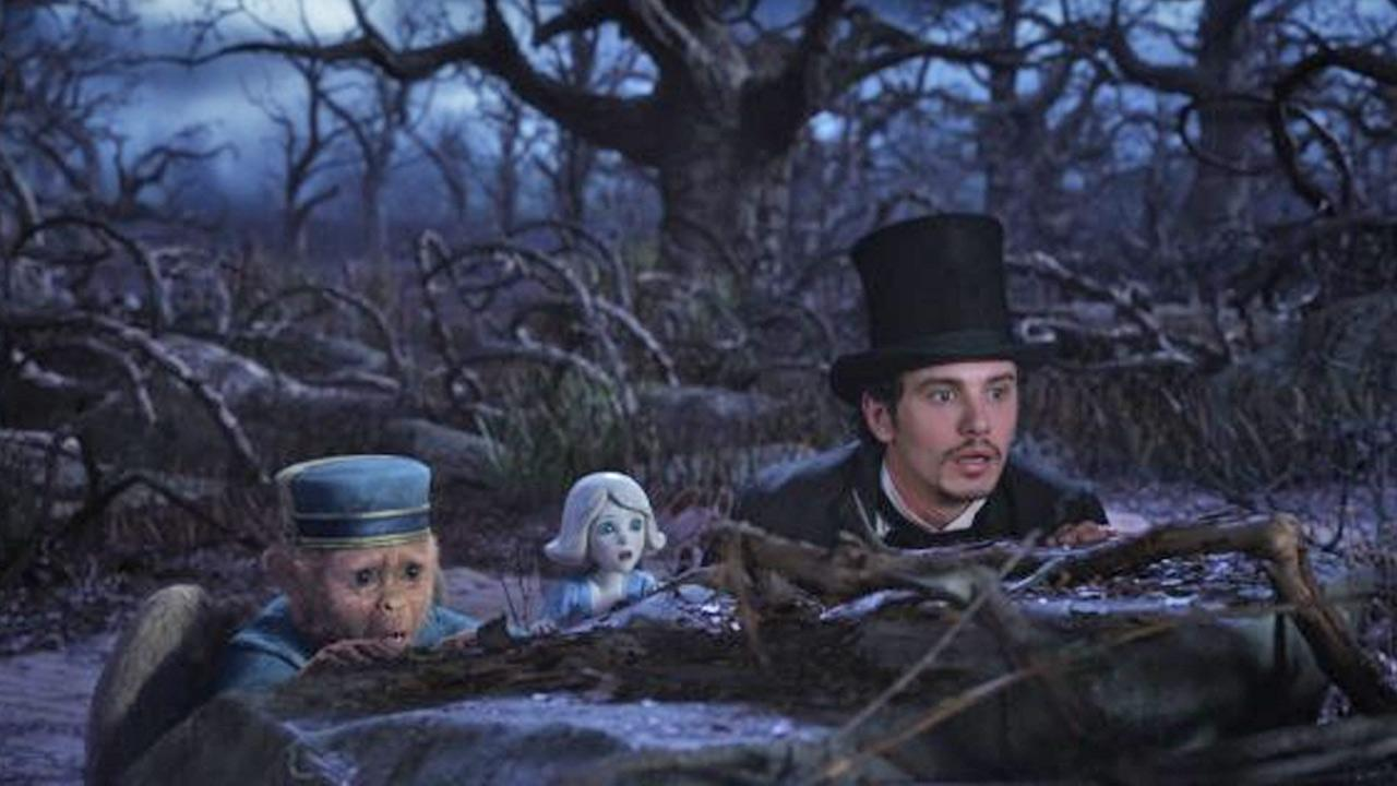 Zach Braff and James Franco appear in a scene from the film Oz the Great and Powerful.