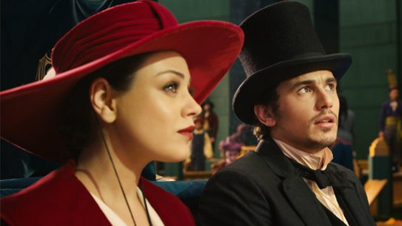 Mila Kunis and James Franco appear in a scene from the film, Oz the Great and Powerful.