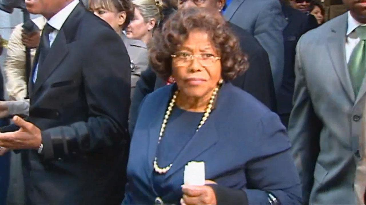 Katherine Jackson, mother of the late pop star Michael Jackson, files out of court during the manslaughter trial of Dr. Conrad Murray.