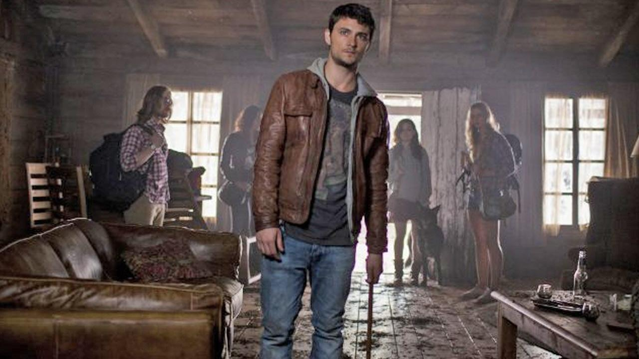 Lou Taylor Pucci, Jessica Lucas, Shiloh Fernandez and Jane Levy are shown in a still image from the film, Evil Dead.