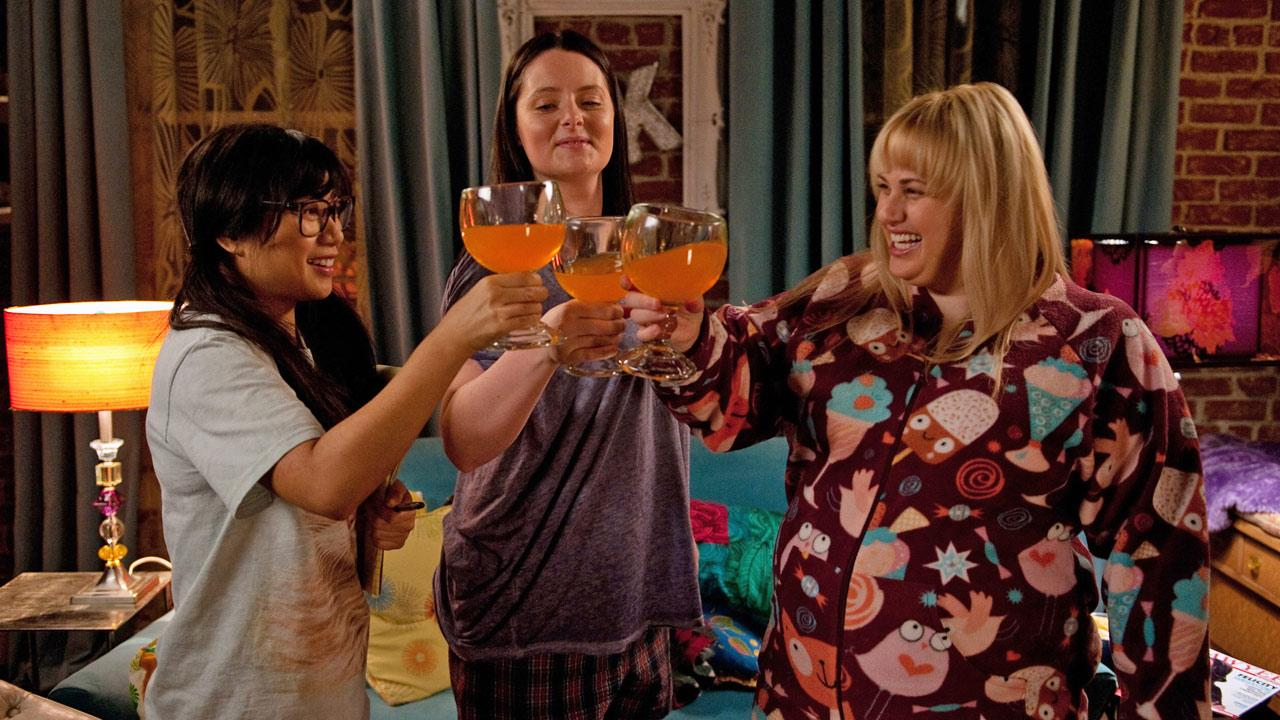 Rebel Wilson, Liza Lapira and Lauren Ash in a scene from the new ABC comedy Super Fun Night, set to premiere this fall.