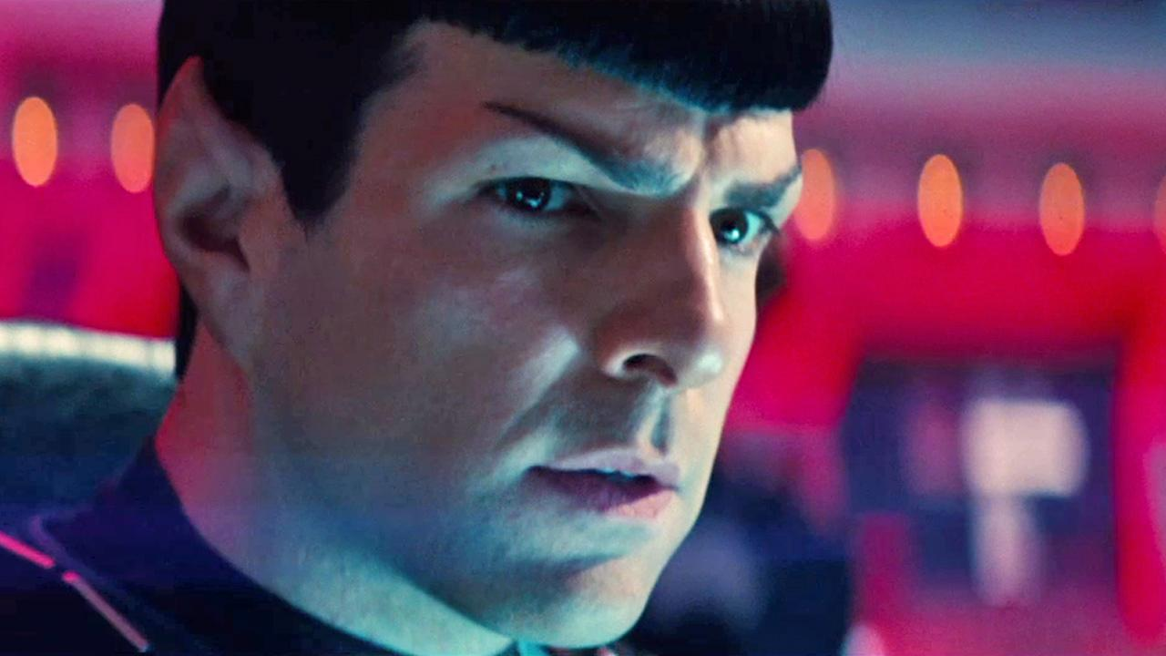 Zachary Quinto appears in a scene from the film Star Trek Into Darkness, set to be released on May 17, 2013.