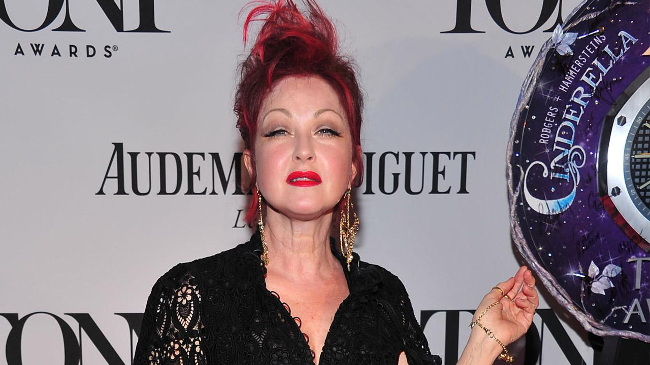 Cyndi Lauper arrives on the red carpet at the 67th Annual Tony Awards, on Sunday, June 9, 2013.