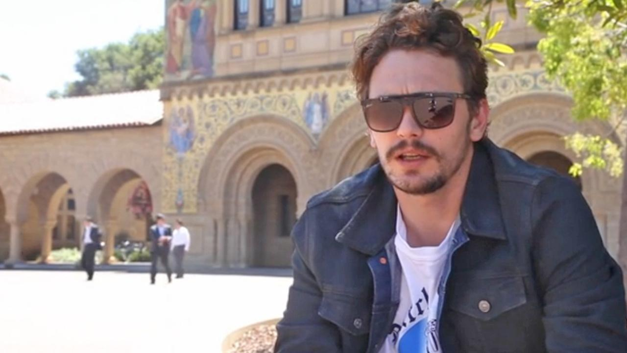 James Franco appears in a still image from an Indiegogo video clip, which promotes fund raising to bankroll a trilogy of films based on Francos 2011 short story collection, Palo Alto.