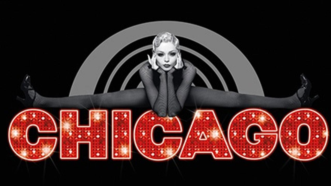 A promotional image for Chicago the musical is shown.