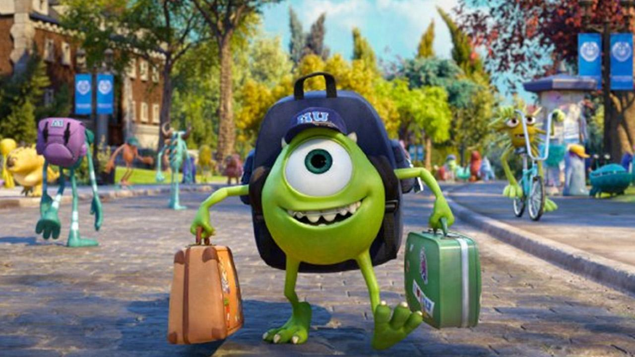 A scene from the 2013 film, Monsters University.