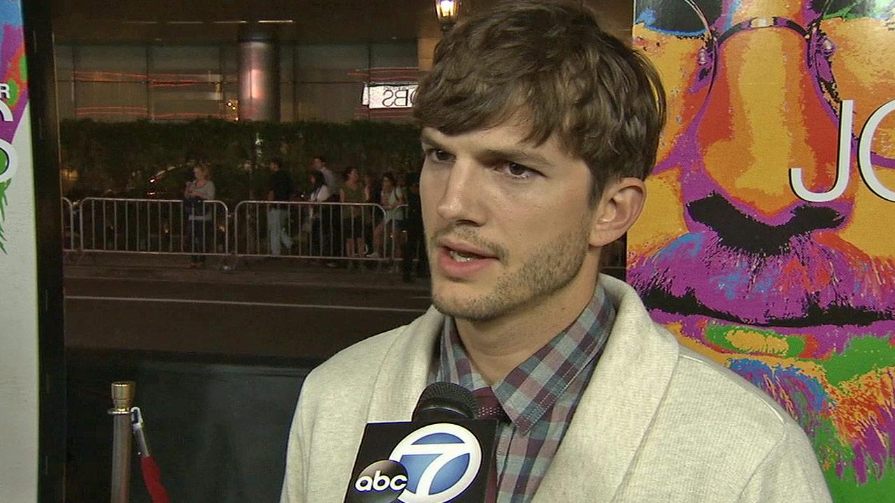 Ashton Kutcher seen at the Special Los Angeles Screening of Open Road and Five Star Feature Films JOBS on Tuesday, Aug.13, 2013 in Los Angeles.