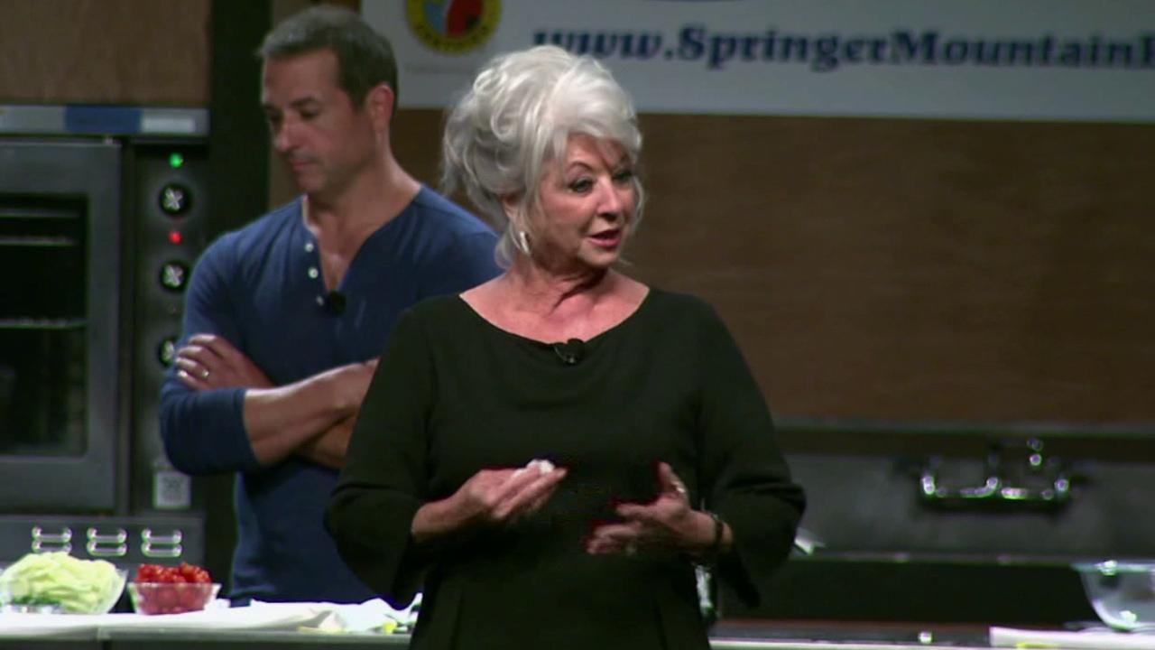 Paula Deen speaks at the Metropolitan Cooking and Entertaining Show in Houston on Saturday, Sept. 14, 2013.