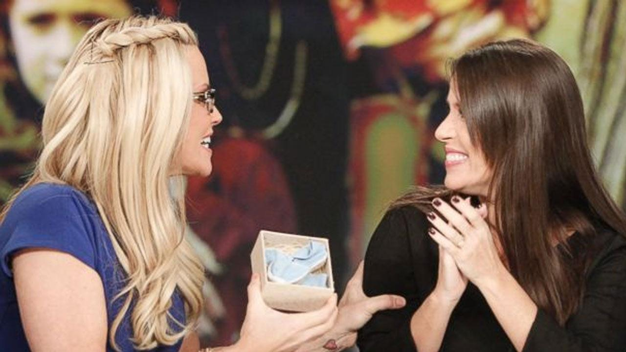 Soleil Moon Frye speaks with co-host Jenny McCarthy on The View on Wednesday, Oct. 16, 2013.