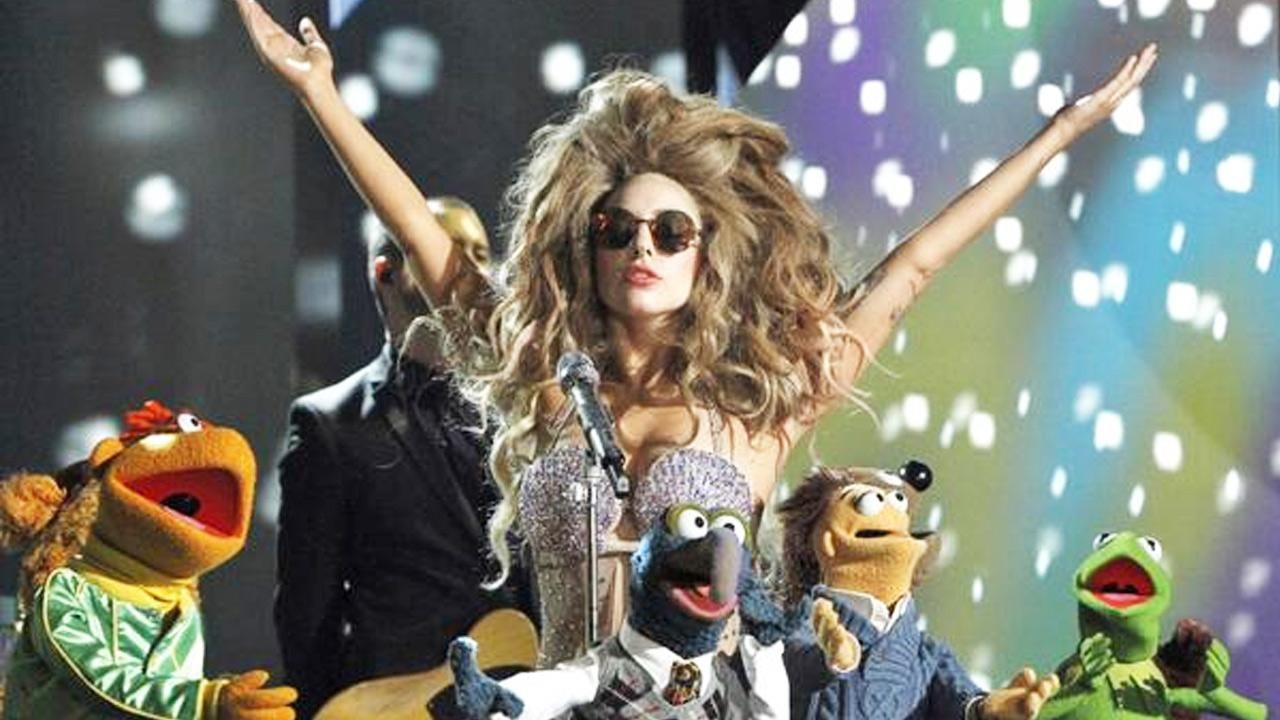 Lady Gaga posted this photo of her performing alongside the Muppets on her Twitter account on Friday, Oct. 18, 2013.