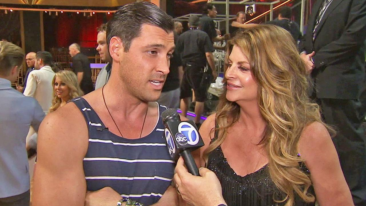 Maksim Chmerkovskiy and his former Dancing With The Stars celebrity partner Kirstie Alley are shown in an undated file photo.k
