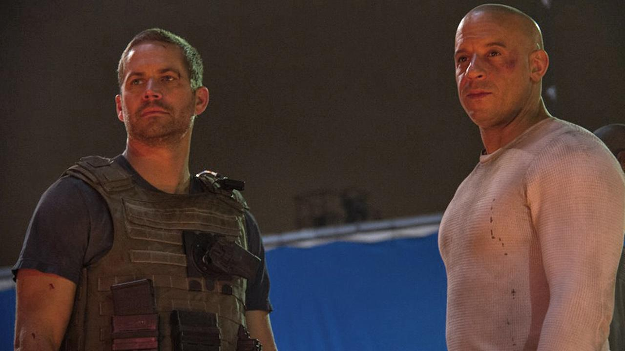 Vin Diesel posted this photo with Paul Walker to his Facebook page, saying it was the last scene we filmed together.
