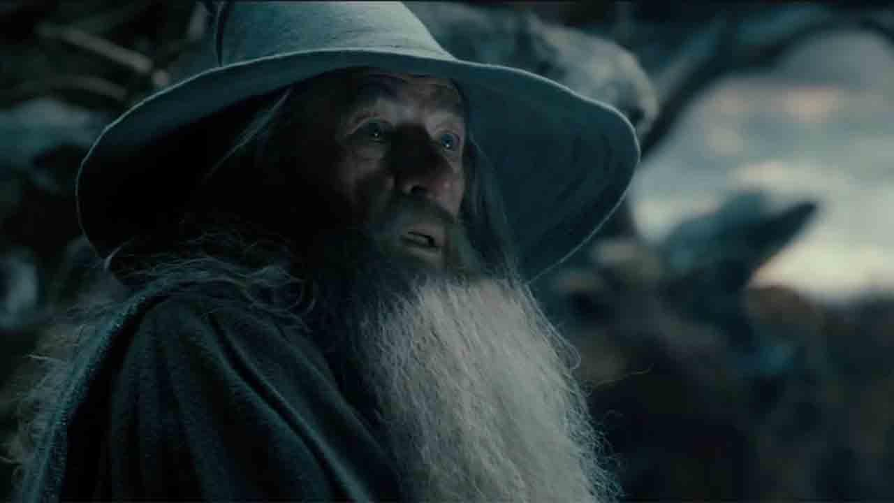 Ian McKellen appears as Gandalf the wizard in a scene from the 2013 movie The Hobbit: The Desolation of Smaug.