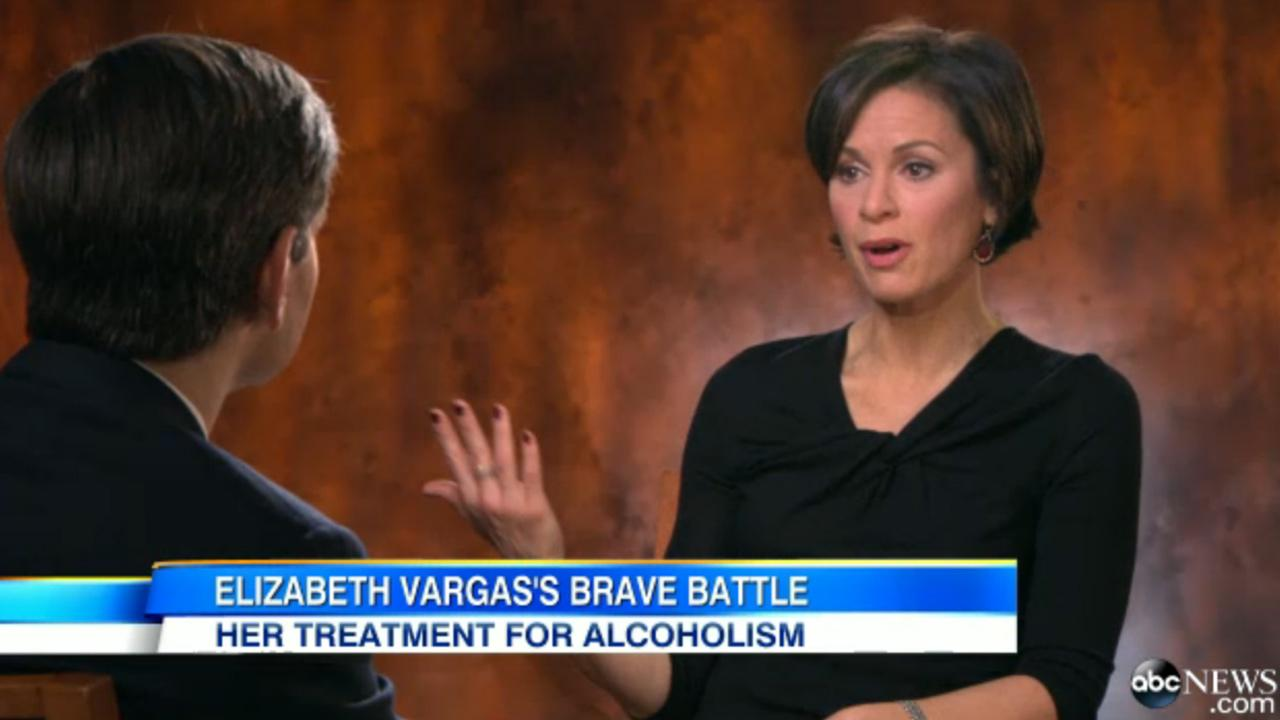 Elizabeth Vargas, anchor of 20/20, talks to George Stephanopoulos about her alcoholism.