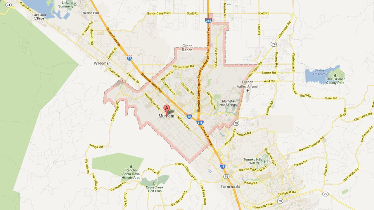 The city of Murrieta, Calif. is shown in this map.