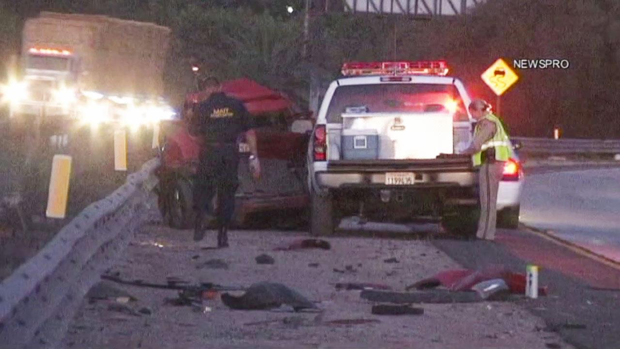 A freeway collision involving a Cal Fire pickup truck killed a Banning man Wednesday night, Aug. 1, 2012.