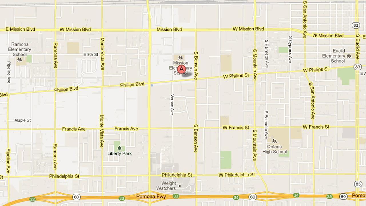 A map shows Phillips Boulevard in Ontario.