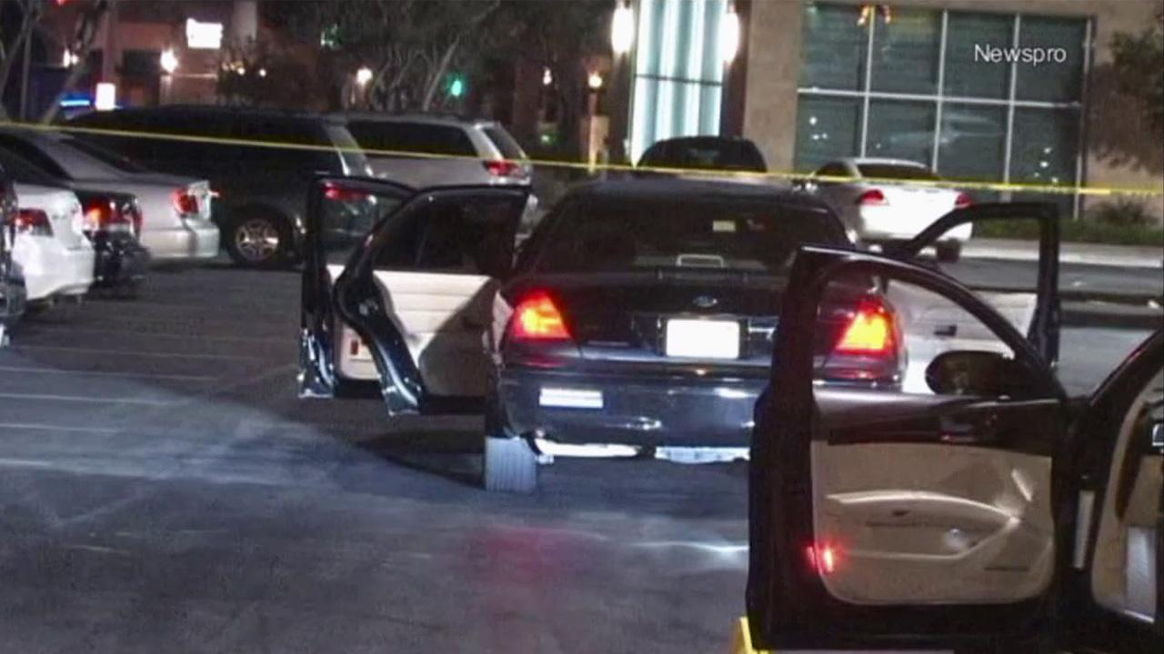 An investigation was under way after a shooting at the Shoppes at Chino Hills on Thursday, Oct. 4, 2012. Two people were wounded in the shooting.