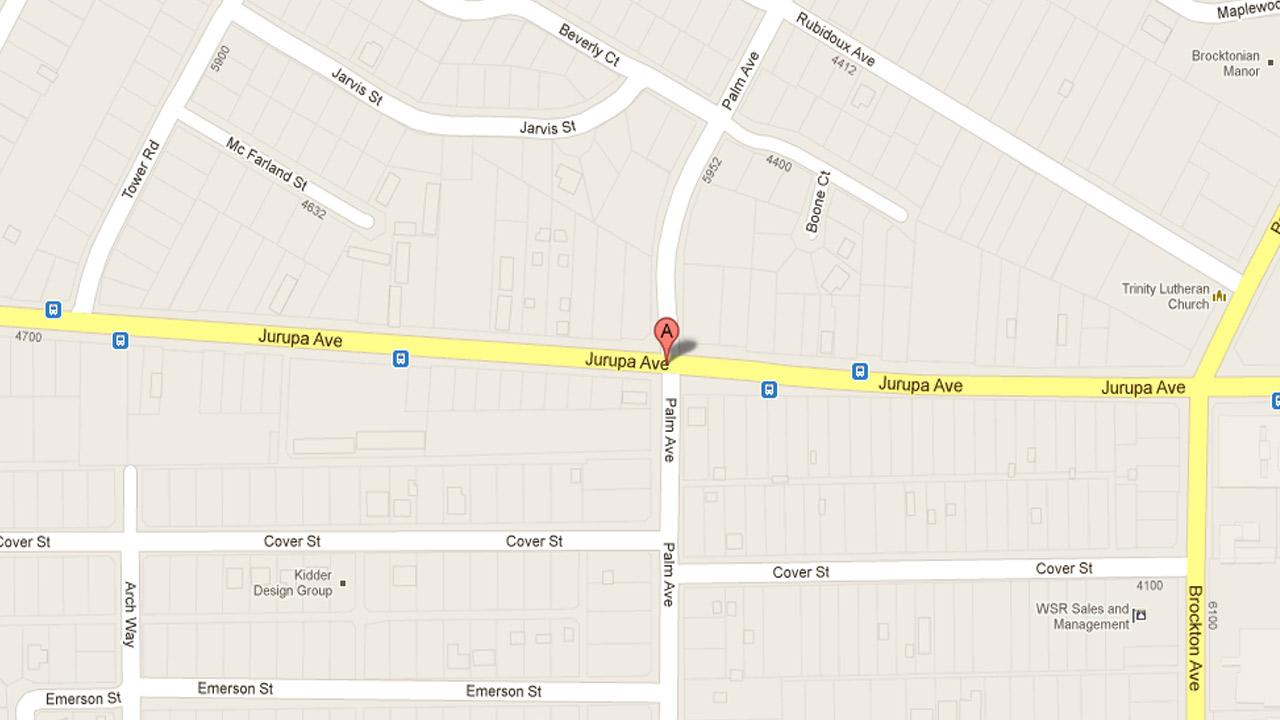 An unidentified man survived a knife attack on the 4500 block of Jurupa Avenue in Riverside Wednesday, Nov. 14, 2012.
