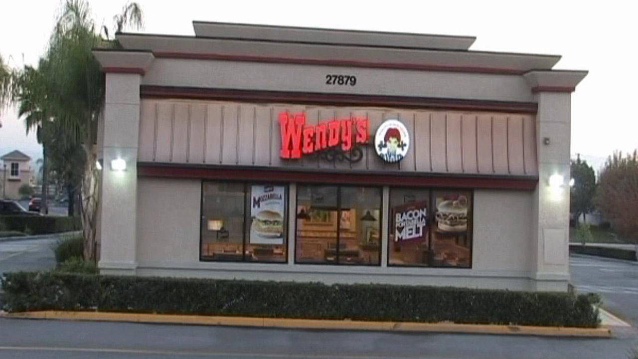A Highland man was arrested after pepper-spraying customers and stabbing a man in the chest at a Wendys located on the 27,800 block of Baseline Street in Highland Wednesday, Nov. 21, 2012.